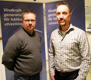 Inom ramen för projektet vill Erik Löfgren och Hans Pahlin att lokala företag ska göra fler vindkraftsaffärer