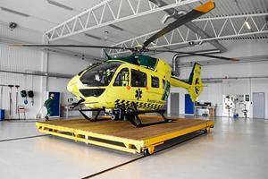 Dalarnas ambulanshelikopter har sin bas vid Mora flygplats.