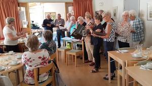 PRO Torvallas egen kör, under ledning av Ingeborg Strängsén, bjöd på en strålande repertoar. Foto: Maria Frank