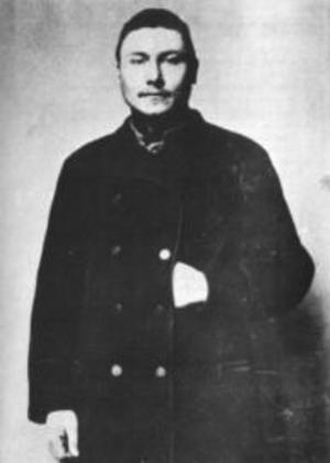 Sista bilden på mördaren Johan Filip Nordlund. Polisens fotografi. Nordlund kom att kallas bland annat