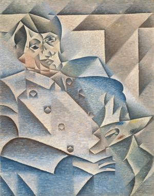 Juan Gris kubistiska porträtt av Pablo Picasso från 1912.