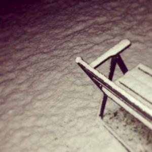 Första snön i Bollstabruk.