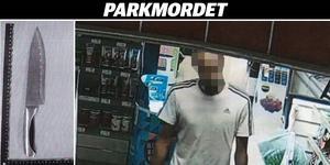 Mannen fångades på en övervakningskamera i en matbutik – där han misstänks ha samma kläder på sig som vid mordet.