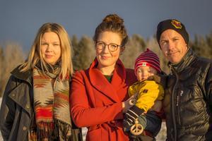 Kristina Ernehed, Anna Olofsson Frestadius med Nils och Henrik Ling, styrelsemedlemmar i föreningen Långforsen.
