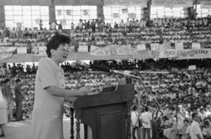 Corazon Aquino.Bild: Alberto Marquez