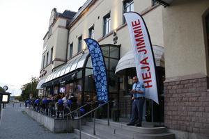 SD:s valvaka i Gävle.