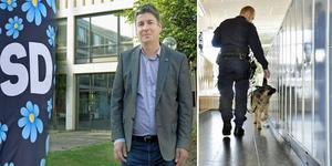 Per Kihlgren, SD, vill att polisen ska kunna söka efter knark på Sandvikens skolor med hjälp av hundar