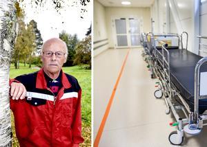 Pensionerade chefläkaren Gösta Brydolf undrar vilka överväganden som ligger bakom beslut att bötfälla sjukhus, som på grund av platsbrist tvingas till överbeläggningar. Bilder: Ove Öst / Lars Pehrson/SvD/TT