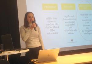Saranda Bajraktari  ska tillsammans med Magnus Zingmark genomföra en forskningsstudie. Foto: Kristina Andersson