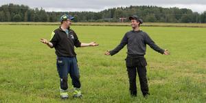 Nicklas Andersson och Markus Gunnarsbo är glada för att vädret inte är som fjolårets.