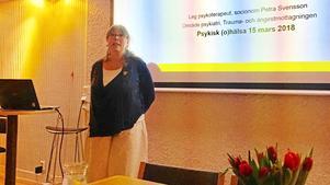Här berättar Petra Svensson om gruppbehandling för människor som utsatts för sexuella övergrepp i barndomen. Foto: Läsarbild.