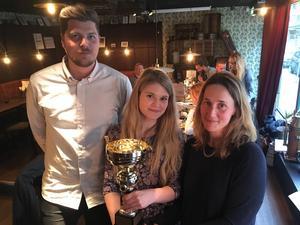 Erik Strömberg, Linnea Brundell och Joanna Wågström får Gävleborgs Journalistpris.