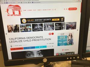 Fejkad nyhet från förra året. Foto AP/TT