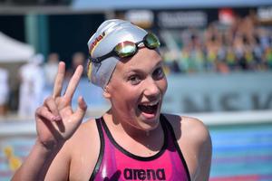 Felicia Andersson är nöjd med  tävlingsveckan.