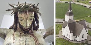 Medeltidens triumfkrucifix skulle påminna om vilken triumf det var när Jesus vann över döden och återuppstod. Den här blodiga, lidande Kristus har suttit i Sorunda kyrkas triumfbåge, väl synlig precis framför kyrkbesökarna. Någon gång har skulpturen plockats ner och förpassats till kyrkvinden, där den hittades. Sedan 1963 förvaras Sorunda kyrkas bortglömda Jesus på Historiska museet. Skulpturen är troligtvis tillverkad i Sverige någon gång mellan åren 1500 och 1525. Foto: Maria Landin, Helene Skoglund/NP arkiv