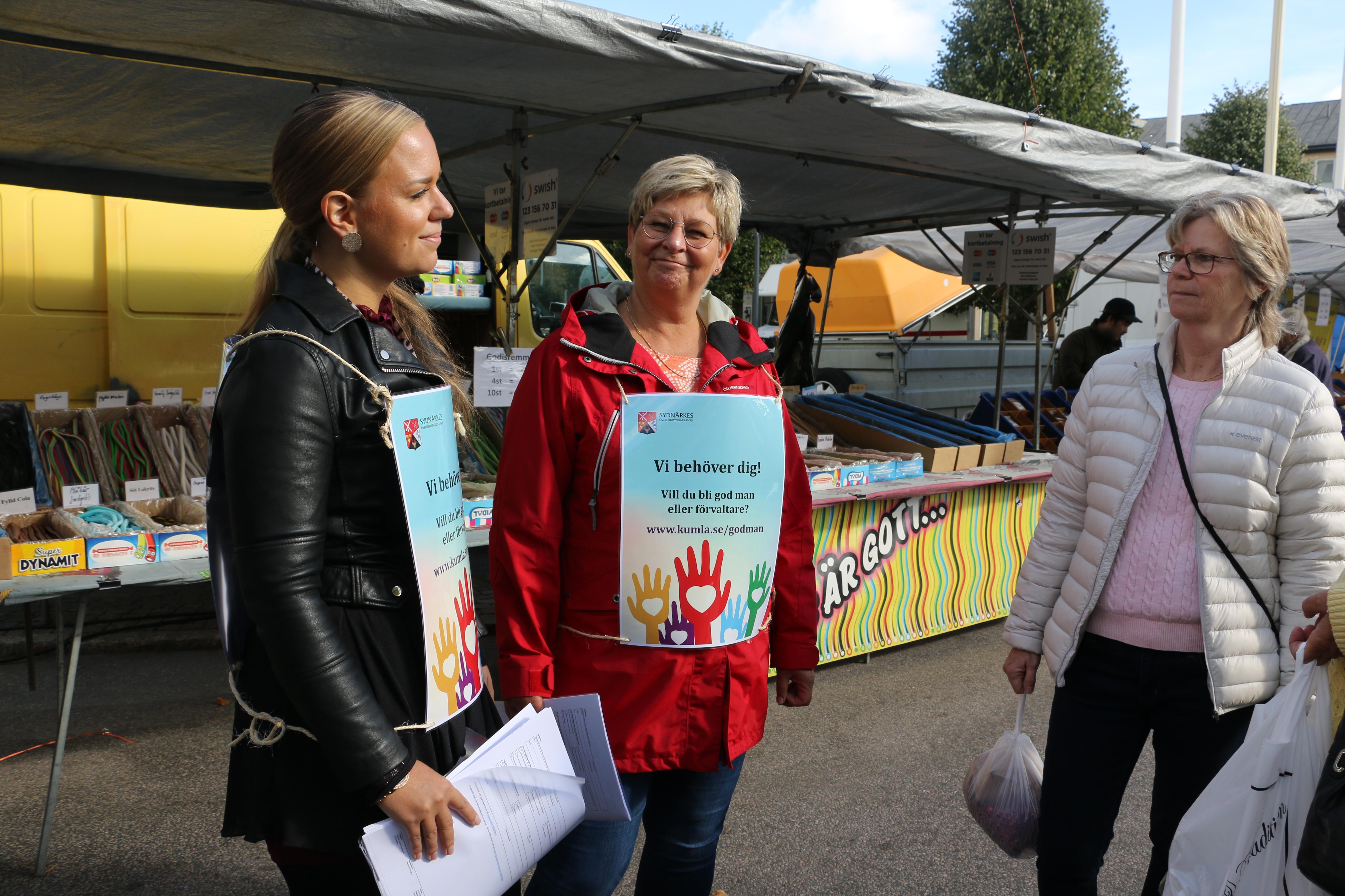 Behovet av gode män är stort i Sydnärke. Något som Sofia Wentzell och Maud Karlsson tog tillfället i akt att informera om på Kumlamarken.