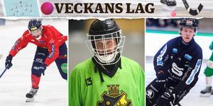 Simon Jansson, Andreas Bergwall och Jesper Jansson. Trion tar plats i Veckans lag. Bild: Peter Axman/Andreas Tagg/Oliver Åbonde