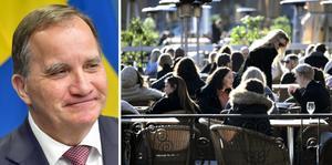 Här är de olika stegen i regeringens plan för öppnandet av Sverige. FOTO: Jonas Ekströmer/TT och Janerik Henriksson/TT
