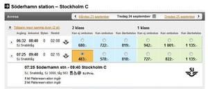 ...men låtsas man gå på tåget i Söderhamn kostar det 483 kronor.