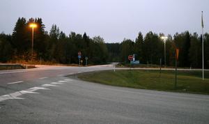 Korsningen mellan E14 och riksväg 83 är den enda av de platser som Jan Filipsson lyfte fram som det ser annorlunda ut i dag än för tio månader sedan.