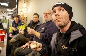 Fredrik Edström och hantverksgänget har varit med för när det bjuds på semla.