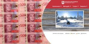 Härjedalens kommun vill ha en modernare hemsida men vet inte om det är värt pengarna. Fotomontage: TT/Harjedalen.se