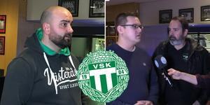 VSK Fotbolls ordförande Andreas Dayan och medlemmarna Joakim Lindborg och Anders Tengström.