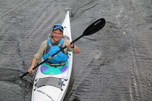 Kristian Scheutz är glad när han får paddla.