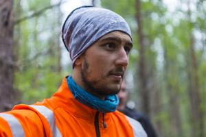 Oguzhan Tuncer är en av praktikanterna. Han säger att han kan se sig själv arbeta inom skogsbruket i framtiden.