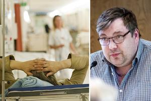 Sjukvården i Gävleborg ska bantas men det är oklart hur. Henrik Olofsson, Sjukvårdspartiet, hade velat att debattera frågan före valet.