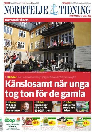 Norrtelje Tidning, 3 april.