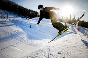 Jennie-Lee Burmansson fick bara tävla i slopestyle föregående OS. Nu har hon också möjlighet att köra big air.Foto: Ulf Palm / TT