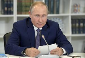 Rysslands president Vladimir Putin. Foto: Alexei Druzhinin, Sputnik, Kremlin Pool Photo, via AP.