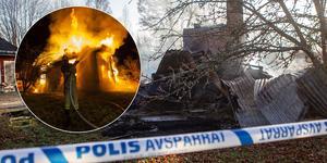 En villa i Mo förstördes under torsdagskvällen.