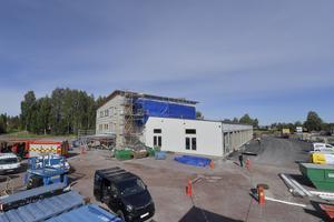 Nu börjar Moras nya brandstation närma sig sitt fullbordande.