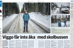Klipp från Måndagens tidning. Dalatrafik i möte om Viggos situation.