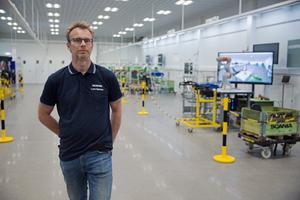 Lars Hanson är koordinator på Scanias Smart factory lab – och är även professor vid högskolan i Skövde.
