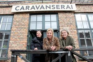 Pia Lundström, Kristina Söderman och Anna-Lena Andersson Löfv ser fram emot den nya byggnadsvårdsbutiken