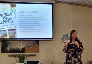 I tisdags kväll föreläste Evelina Loberg om Gävleborgs läns energi- och klimatstrategi 2020-2030