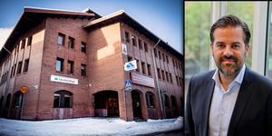 Arbetsförmedlingen vill satsa på ett nationellt granskningskontor i Falun för 100 anställda. Det nya kontoret kommer ligga i samma lokaler som gamla öppna besökskontoret i Falun, meddelar AF-chefen Stefan Popovic. Montagefoto: Anton Ryvang och AF.