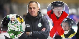 Michael Carlsson tvingas avvara Erik Pettersson och Tobias Nyberg. Martin Landström kliver in som ende ersättare.