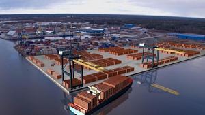 Foto: YilportSåhär ska Gävle hamn se ut 2019 efter jätteinvesteringen på sammanlagt 700 miljoner kronor.