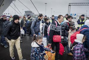 Sverige saknade förmågan att på ett inledande stadium vid mottagandet att skilja asylflyktingar från den övriga gruppen, vilket medförde att mottagandesystemet brakade samman, skriver Peter Gerdman. Foto: Marcus Ericsson, TT.