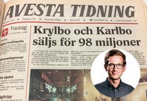 Avesta Tidning den 11 november 1997. Gabriel Ehrling Perers, politisk redaktör, redogör här för sin läsning av Avesta Tidnings arkiv från storaffären. Det är ingen smickrande läsning, menar han.