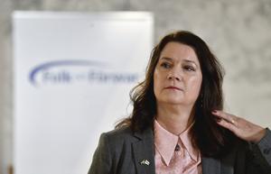 Sveriges utrikesminister Ann Linde (S) under konferensen Folk och försvar. Foto: Jessica Gow/TT