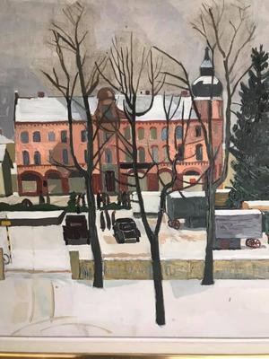 Så här såg det ut 1954, enligt konstnären Sven Ljungberg. Inskickad av Leif Hilding.