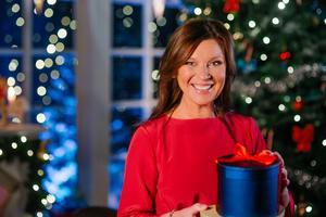Lotta Engberg höll i Nyårsbingot den 31 december. Foto: Bingolotto /Handout