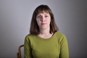 Vasiliki Tsouplaki, riksdagsledamot för Vänsterpartiet. Foto: Henrik Montgomery / TT