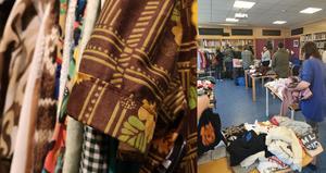 Anna Westling på biblioteket i Sveg tror det kan bli en klädbytardag även till hösten.