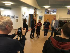 Representanter från såväl Region Gävleborg som Hudiksvalls kommun fanns på plats under invigningen.